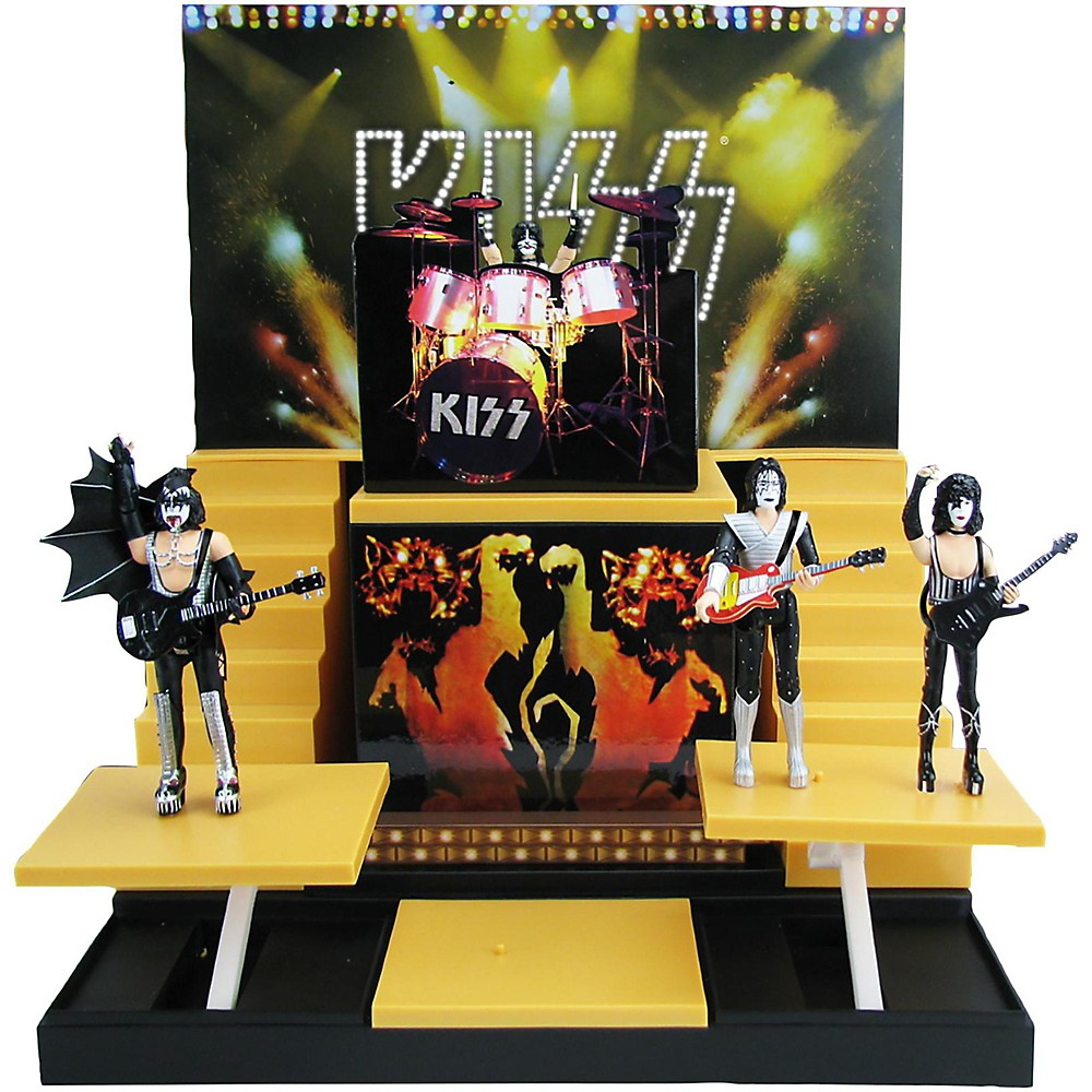 Kiss Alive Ii Stage With 1:20 Scale Action Figures Deluxe Box Set #1 Convention Exclusive 1500000050444