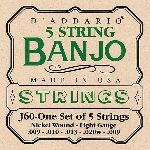D'Addario J60 5-String Banjo Strings