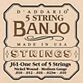 D'Addario J61 5-String Banjo Strings-thumbnail