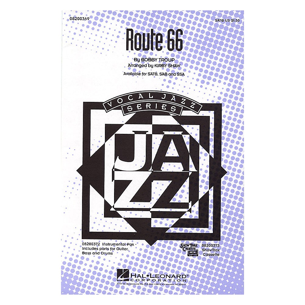 Hal Leonard Route 66 Satb Arranged By Kirby Shaw 1500000059671