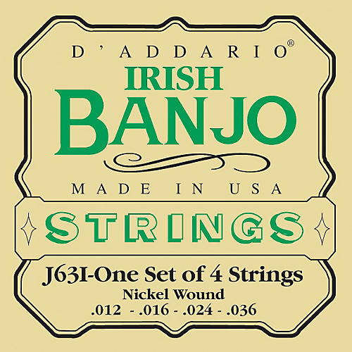 D'Addario J63i 4-String Irish Banjo Strings-thumbnail