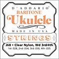D'Addario J68 Baritone Ukulele Strings  Thumbnail