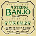 D'Addario J69 5-String Banjo PB Light Loop Strings-thumbnail