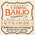 D'Addario J69B 5-String Banjo PB Light Ball Strings  Thumbnail