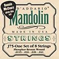 D'Addario J75 Medium/Heavy Phosphor Bronze Wound Bluegrass Mandolin Strings  Thumbnail
