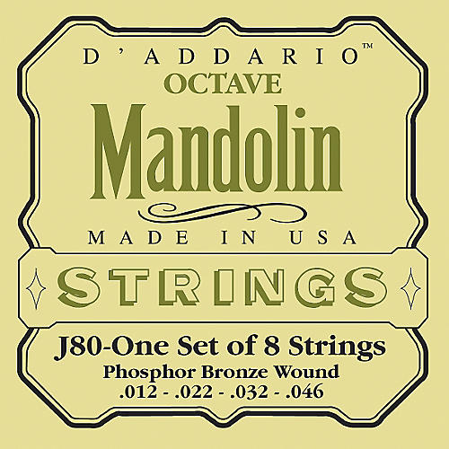 D'Addario J80 Phosphor Bronze Octave Mandolin Strings