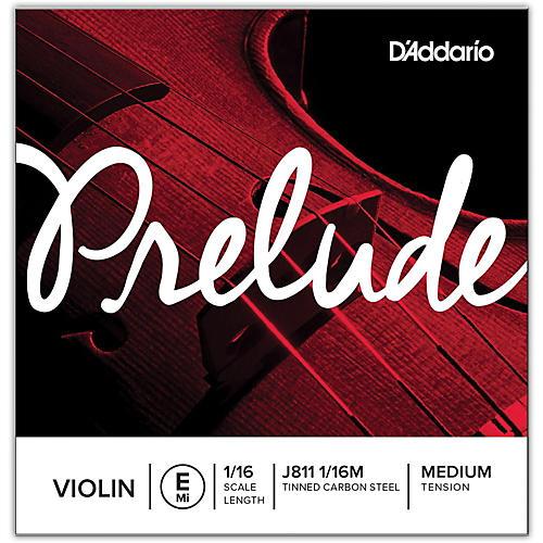 D'Addario J811 Prelude 1/16 Violin Single E String Plain Steel Medium