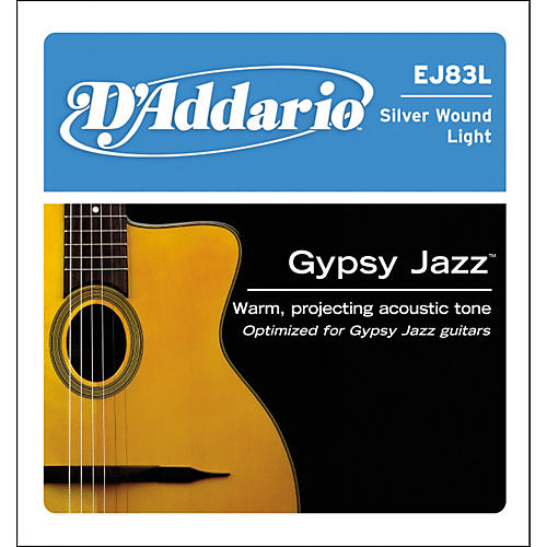D'Addario J83L03 Gypsy Jazz Silver Wound Single Acoustic Guitar String-thumbnail