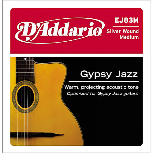 D'Addario J83M03 Gypsy Jazz Silver Wound Single Acoustic Guitar String-thumbnail