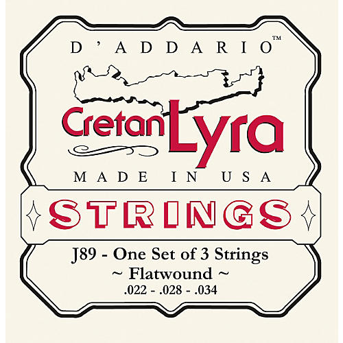 D'Addario J89 Flat Wound Cretan Lyra Strings