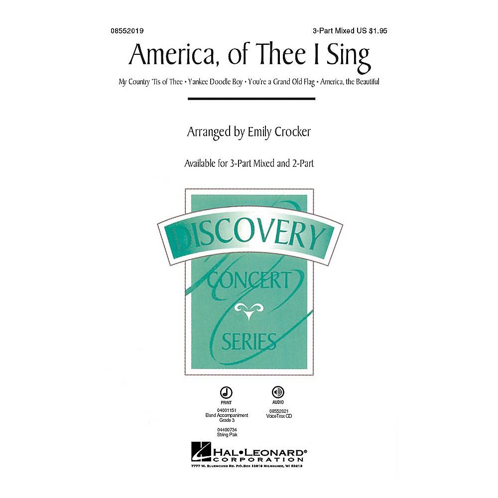 Hal Leonard America, of Thee I Sing (Medley) 2-Part Arranged by Emily Crocker 1500000098264