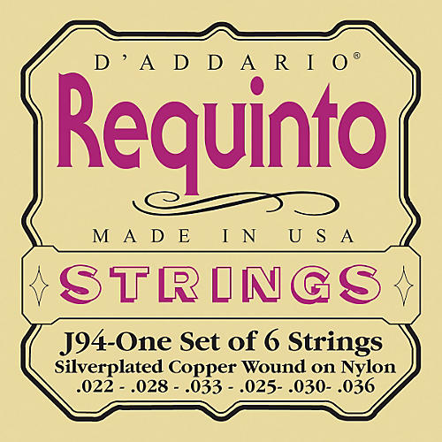 D'Addario J94 Silver-Plated Wound Requinto String Set-thumbnail