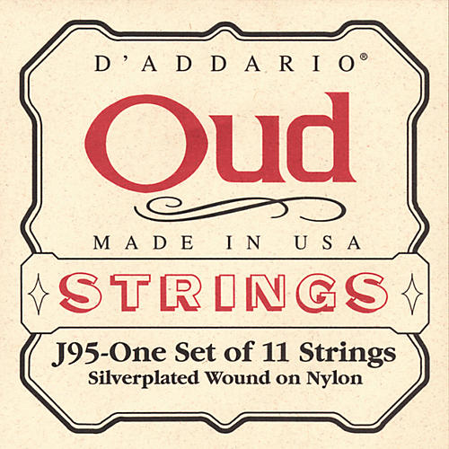 D'Addario J95 Silver-Plated Wound Oud String Set