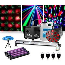 CHAUVET DJ JAM Pack Diamond with Four Party Bulbs, Four Blacklights and a VEI Mini Laser Lighting Package