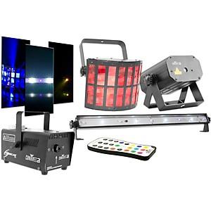 CHAUVET DJ JAM Pack Gold Projection Lighting Effect with Fog Machine and UV...
