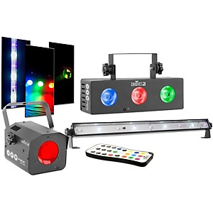 CHAUVET DJ JAM Pack Silver Moonflower Projection Light Effect with Tri-Colo...