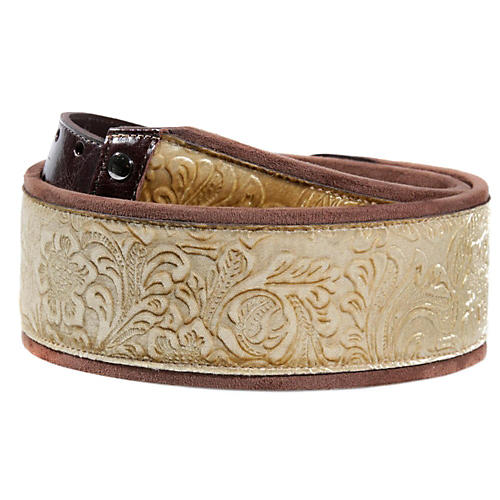 Right On JAZZ Fiore Gold Guitar Strap-thumbnail
