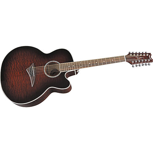 Dean JC-QM-12-TGE Jumbo Cutaway Acoustic-Electric 12-String Guitar