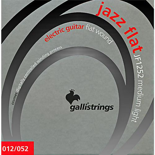 Galli Strings JF1252 JAZZ FLAT WOUND Medium Light Electric Guitar Strings 12-52