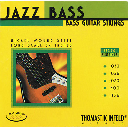 Thomastik JF345 Flatwound 5-String Jazz Bass Strings-thumbnail