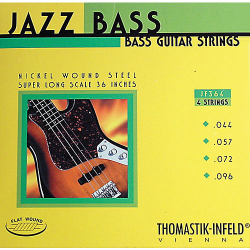 Thomastik JF364 Flatwound Super Long Scale 4-String Jazz Bass Strings-thumbnail