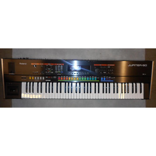 Roland JP50 Jupiter 50 76 Key Black And Silver Synthesizer