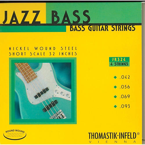Thomastik JR324 Roundwound Jazz Series Short-Scale Electric Bass Strings-thumbnail