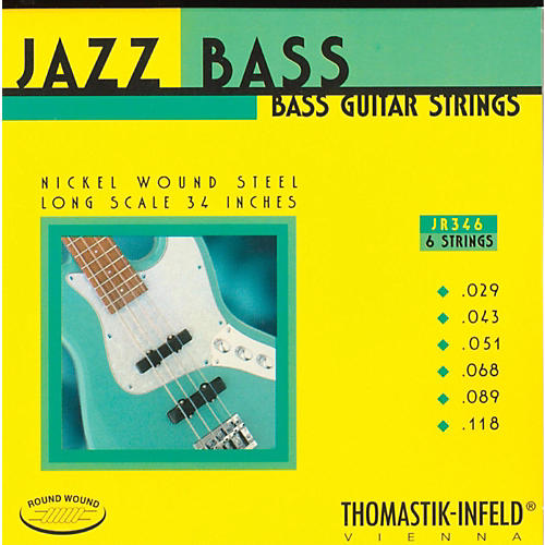 Thomastik JR346 Roundwound Scale 6-String Jazz Bass Strings