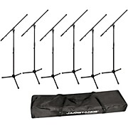 JAMSTANDS JS-MCFB6PK Six Tripod Mic Stands with Carrying Bag