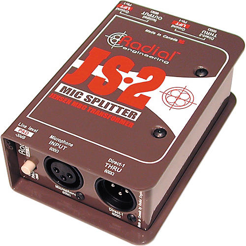 Radial Engineering JS2 Passive Microphone Splitter Direct Box-thumbnail