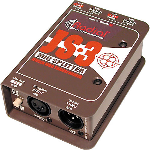 Radial Engineering JS3 Passive Microphone Splitter Direct Box-thumbnail