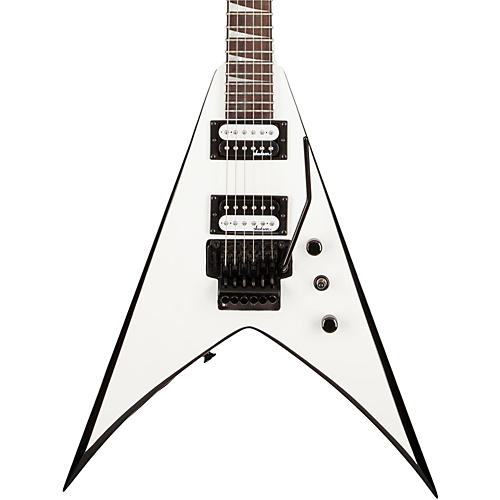 Jackson JS32 King V Electric Guitar White with Black Bevel