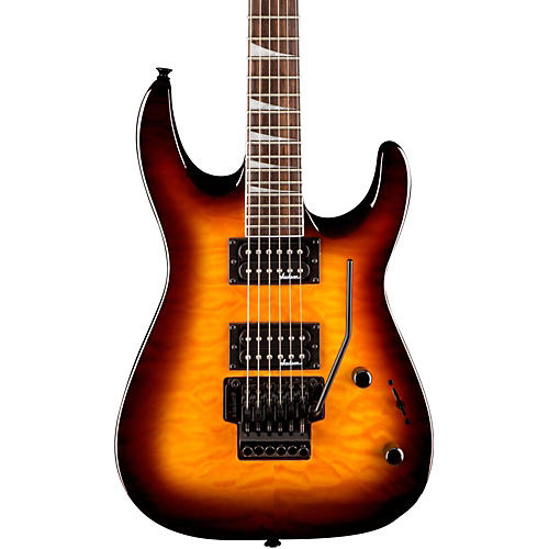 Jackson JS32Q Dinky DKA Quilt Maple Top Electric Guitar Transparent Amber
