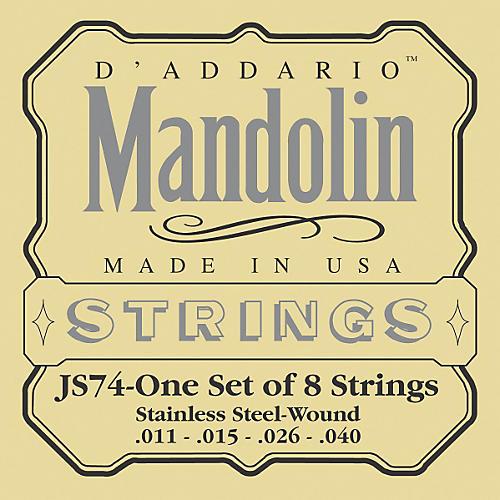 D'Addario JS74 Stainless Steel Mandolin Strings Medium