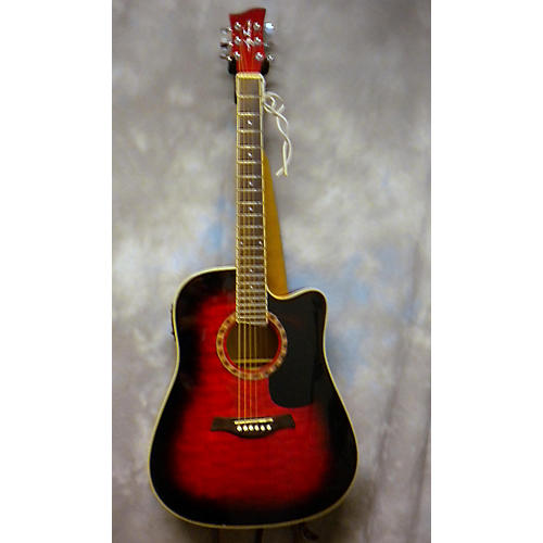 Jay Turser JTA-454 Candy Red Burst Solid Body Electric Guitar
