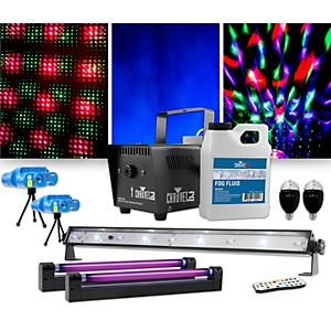 CHAUVET DJ Jam Pack Emerald with Double VEI Mini Lasers, Party Bulbs and Bl...