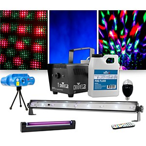 CHAUVET DJ Jam Pack Emerald with VEI Mini Laser, Party Bulb and Blacklight ...