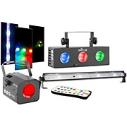 Chauvet DJ JAM Pack Silver Moonflower Projection Light Effect with Tri-Color LED Wash and UV Strobe Light