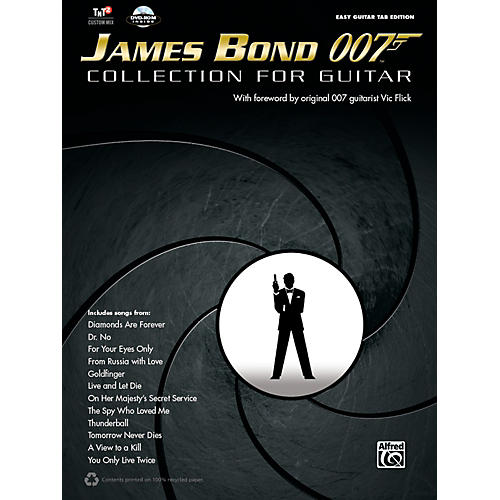 Alfred James Bond 007 Collection for Easy Guitar Book & DVD ROM