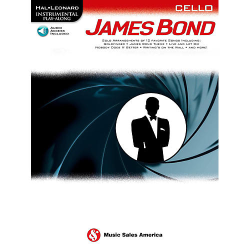 Music Sales James Bond For Cello - Instrumental Play-Along Book/Online Audio