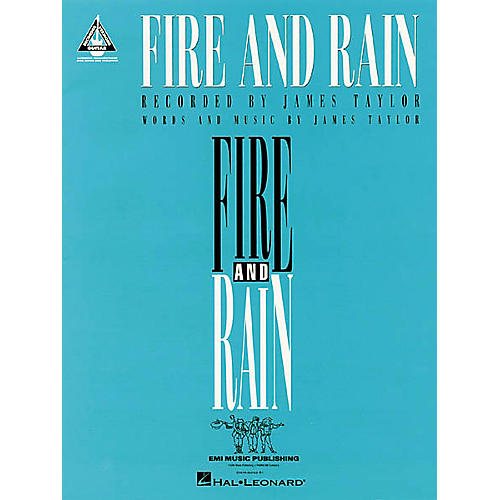 Hal Leonard James Taylor: Fire and Rain Guitar Sheet Music Book-thumbnail