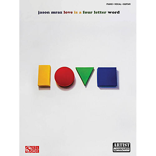 Cherry Lane Jason Mraz - Love Is A Four Letter Word Piano/Vocal/Guitar Songbook-thumbnail
