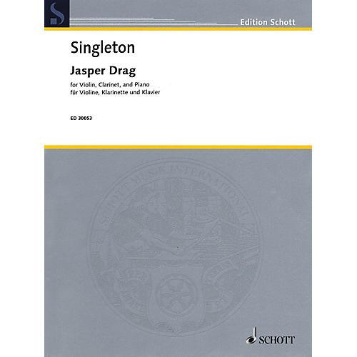 Schott Jasper Drag (Violin, Clarinet, and Piano) Ensemble Series Composed by Alvin Singleton