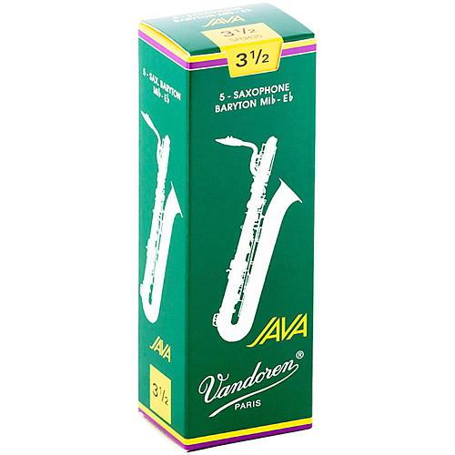 Vandoren Java Green Baritone Saxophone Reeds Strength - 3.5, Box of 5