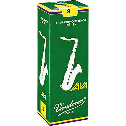 Vandoren Java Tenor Saxophone Reeds Strength 1.5 Box of 5