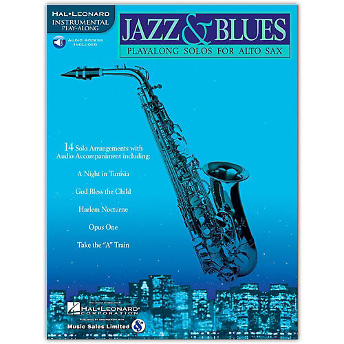 Hal Leonard Jazz And Blues Playalong Solos for Alto Sax (Book/Online Audio)-thumbnail