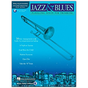Hal Leonard Jazz and Blues Playalong Solos for Trombone Book/Online Audio