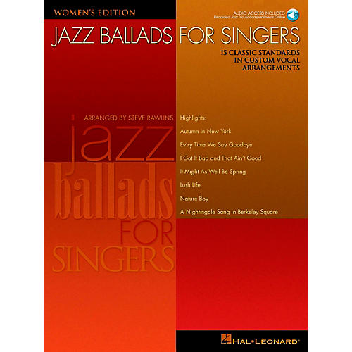 Hal Leonard Jazz Ballads for Singers - Women's Edition Book/CD-thumbnail
