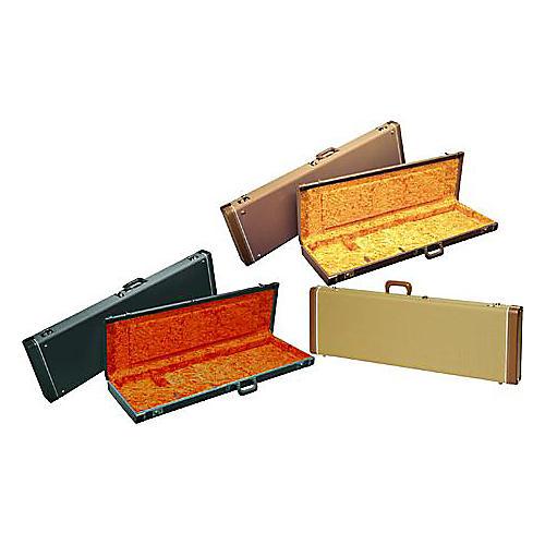 Fender Jazz Bass Hardshell Case Brown Gold Plush Interior