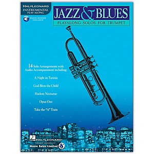 Hal Leonard Jazz and Blues Playalong Solos for Trumpet Book/Online Audio by Hal Leonard